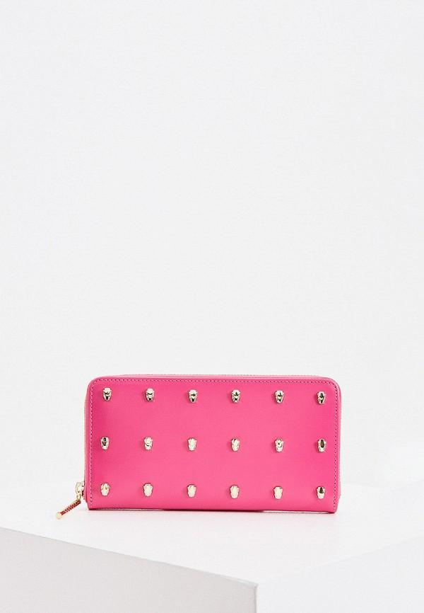 женский кошелёк cavalli class, розовый