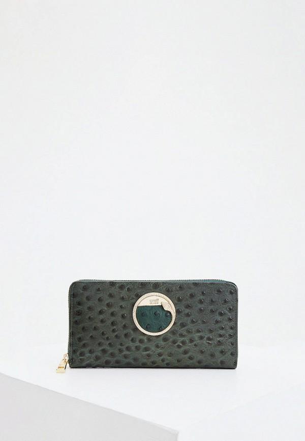 женский кошелёк cavalli class, зеленый