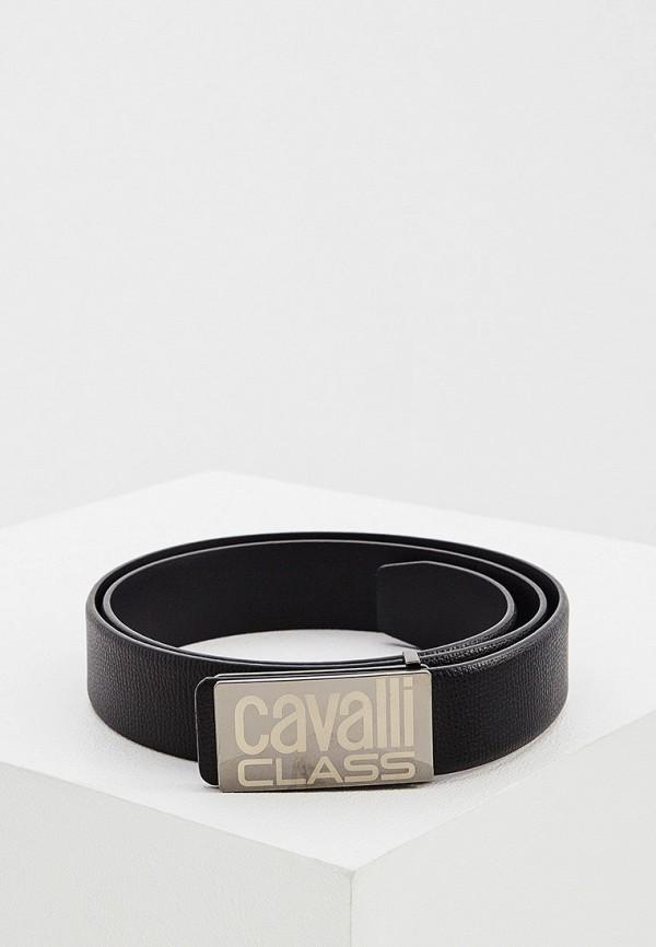 мужской ремень cavalli class, черный