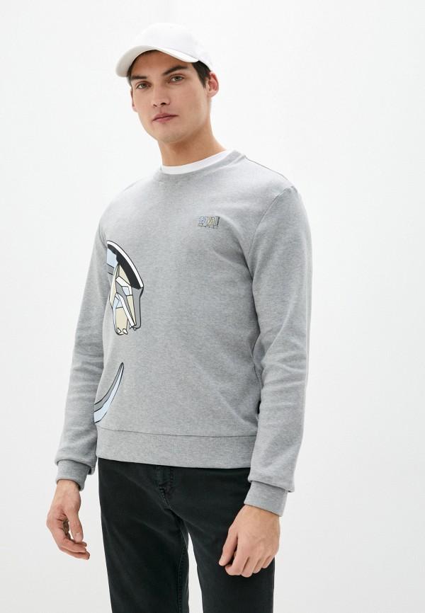 мужской свитшот cavalli class, серый
