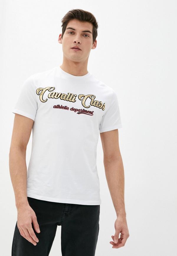 Футболка Cavalli Class белого цвета