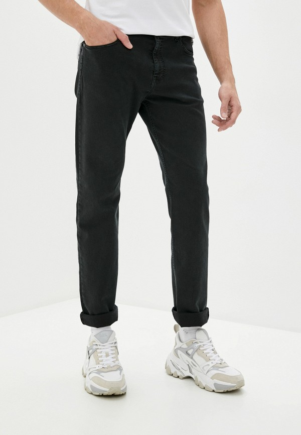 мужские прямые джинсы cavalli class, черные