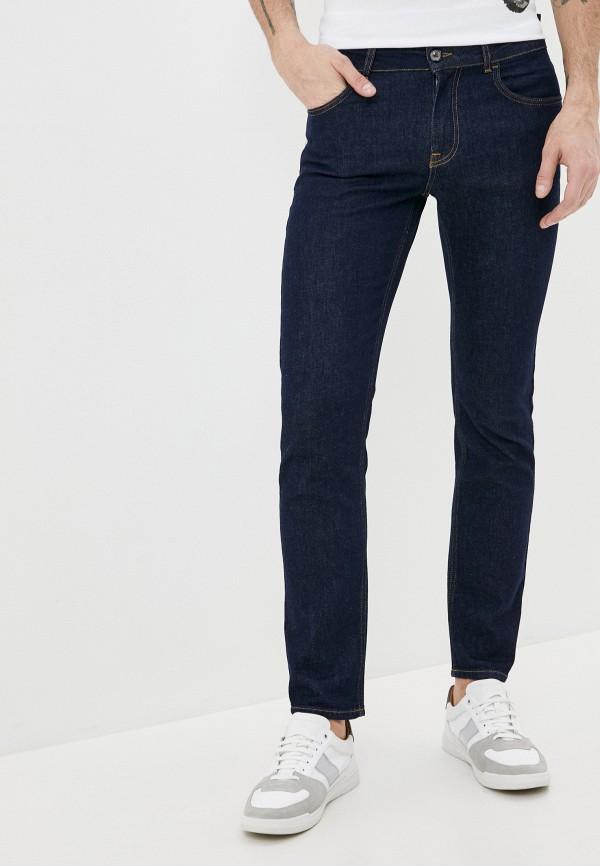 мужские зауженные джинсы cavalli class, синие