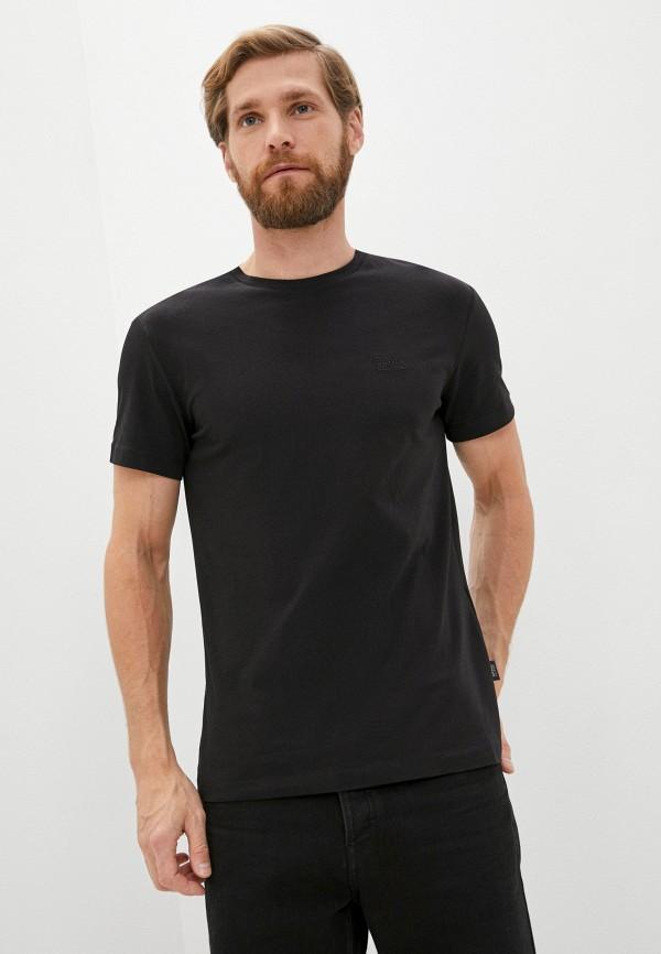 мужская футболка cavalli class, черная