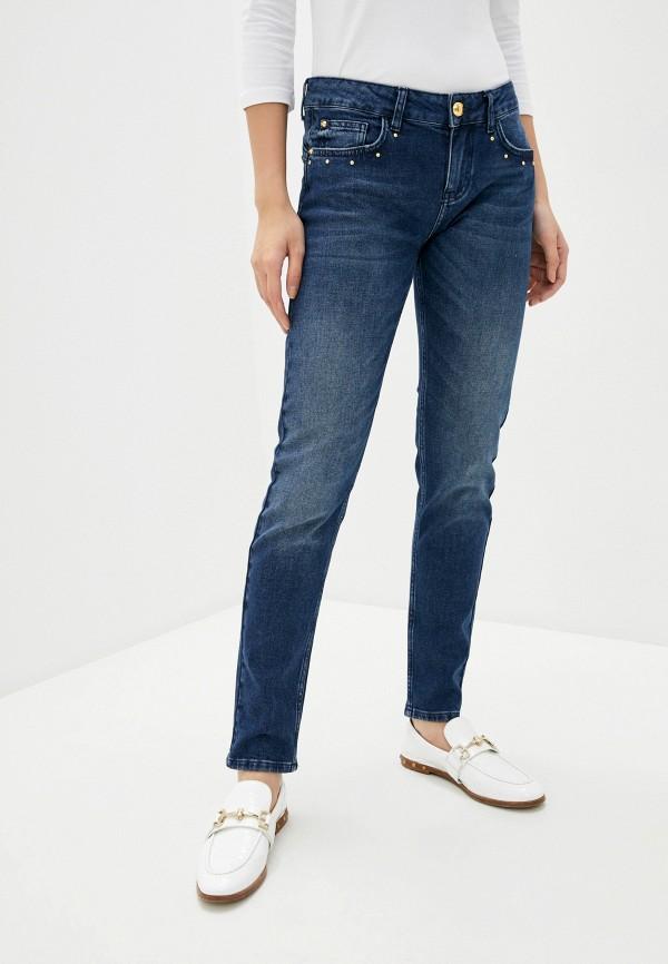 женские прямые джинсы cavalli class, синие