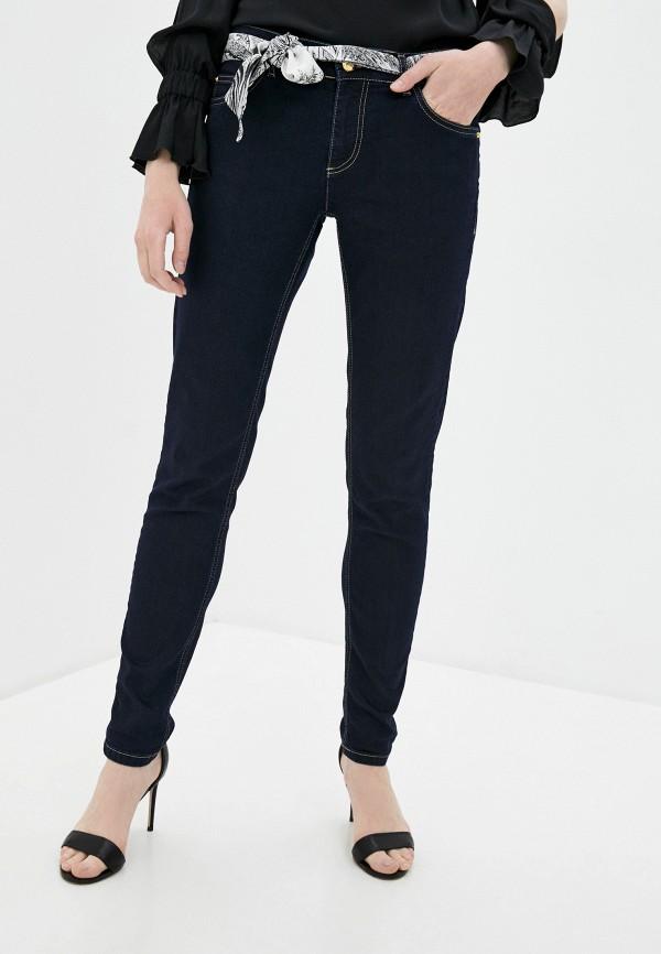 женские джинсы скинни cavalli class, синие