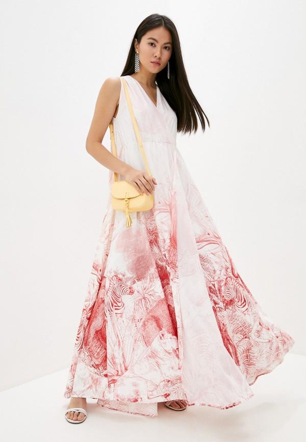женское повседневные платье cavalli class, красное