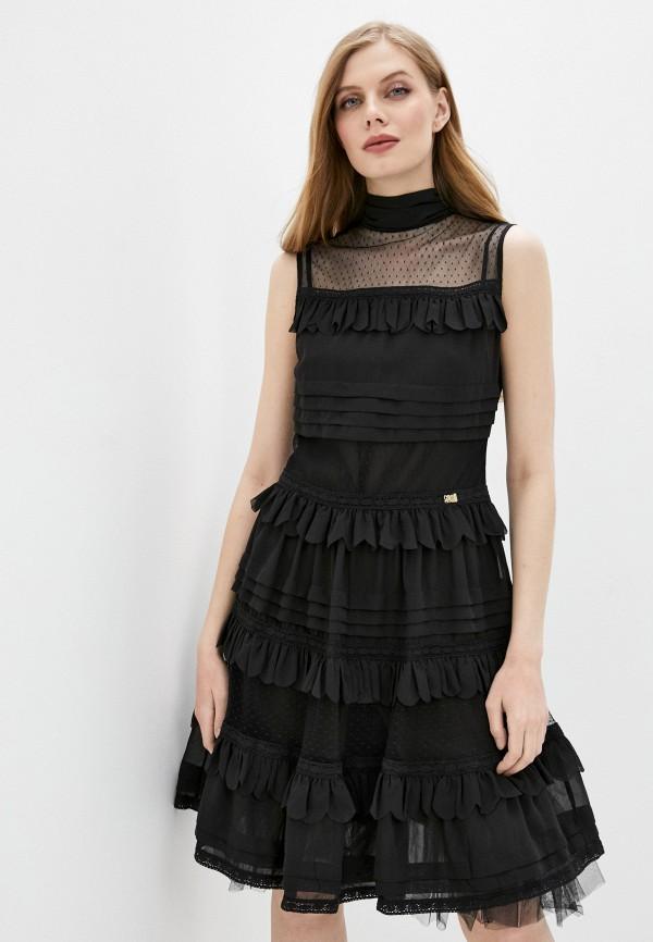 женское вечерние платье cavalli class, черное