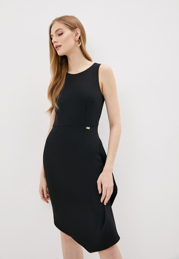 женское платье-футляр cavalli class, черное