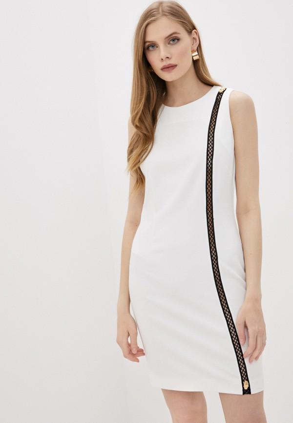 женское повседневные платье cavalli class, белое