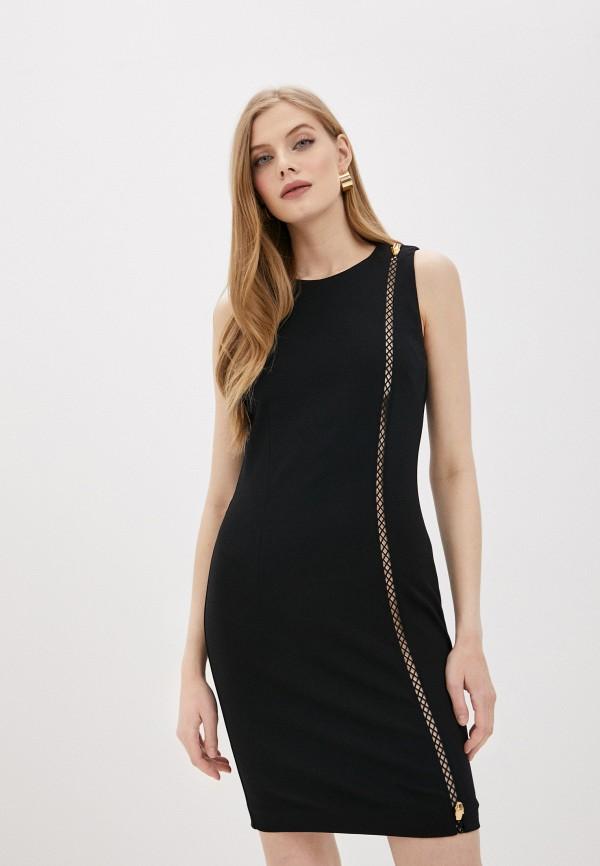 женское повседневные платье cavalli class, черное