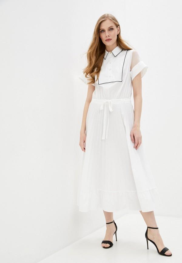 женское платье-рубашки cavalli class, белое