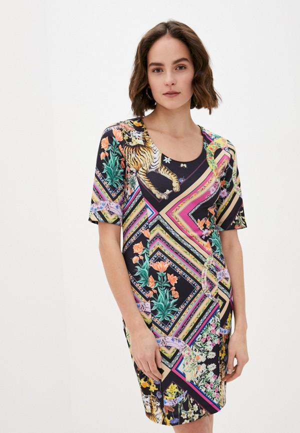 женское повседневные платье cavalli class, разноцветное