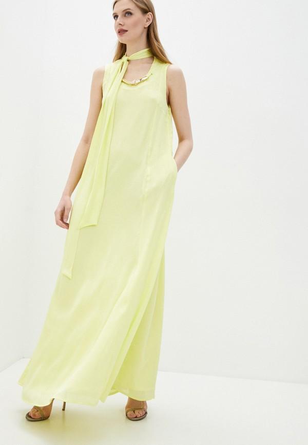 Платье Cavalli Class желтого цвета
