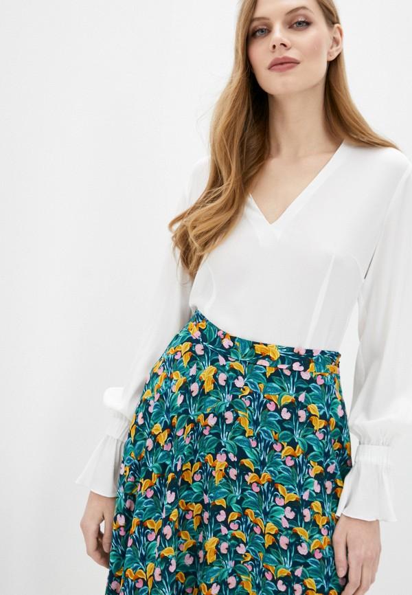 женская блузка с длинным рукавом cavalli class, белая