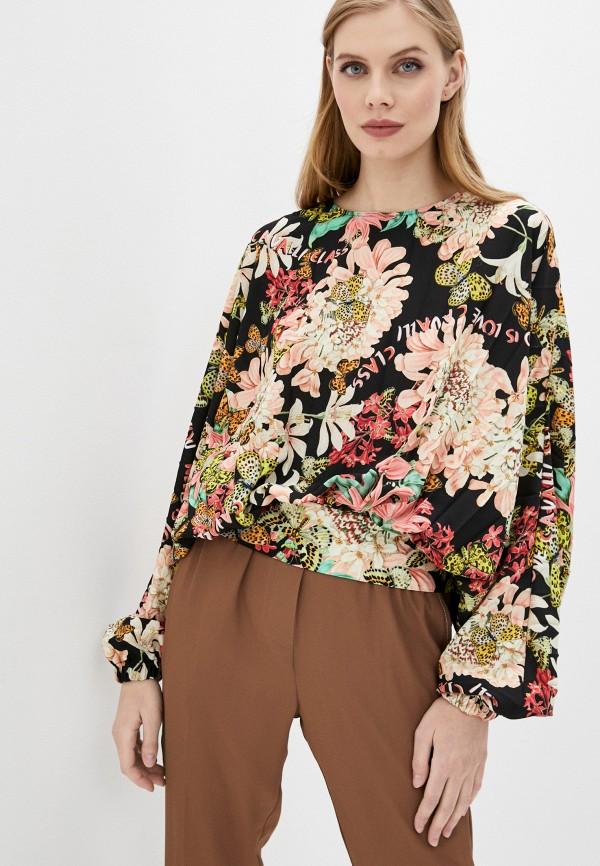 женская блузка с длинным рукавом cavalli class, разноцветная