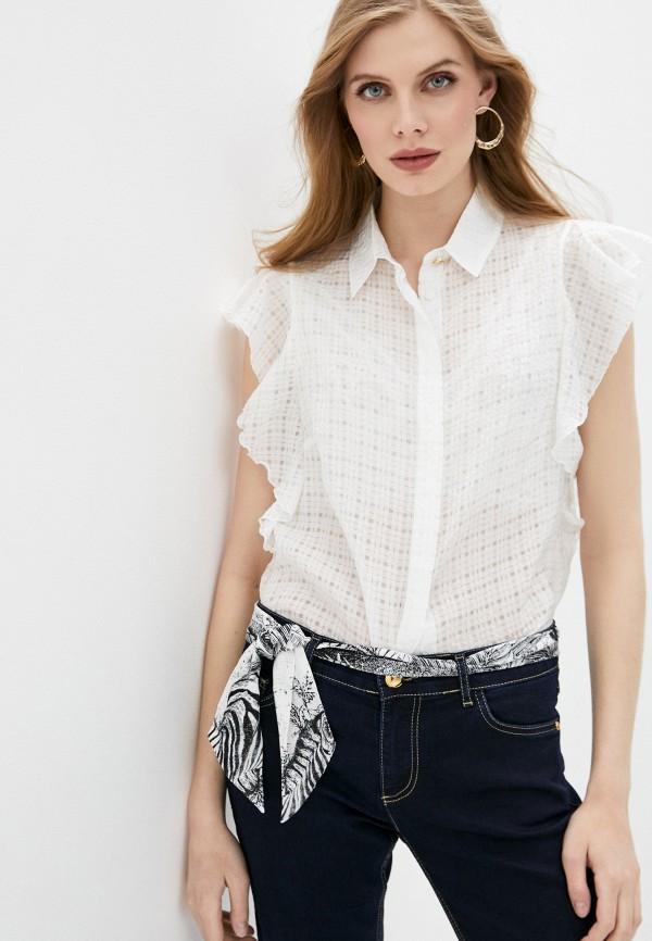 женская блузка без рукавов cavalli class, белая