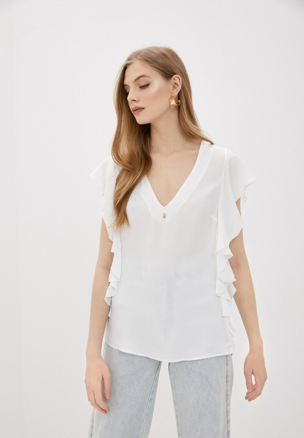 Блуза Cavalli Class белого цвета