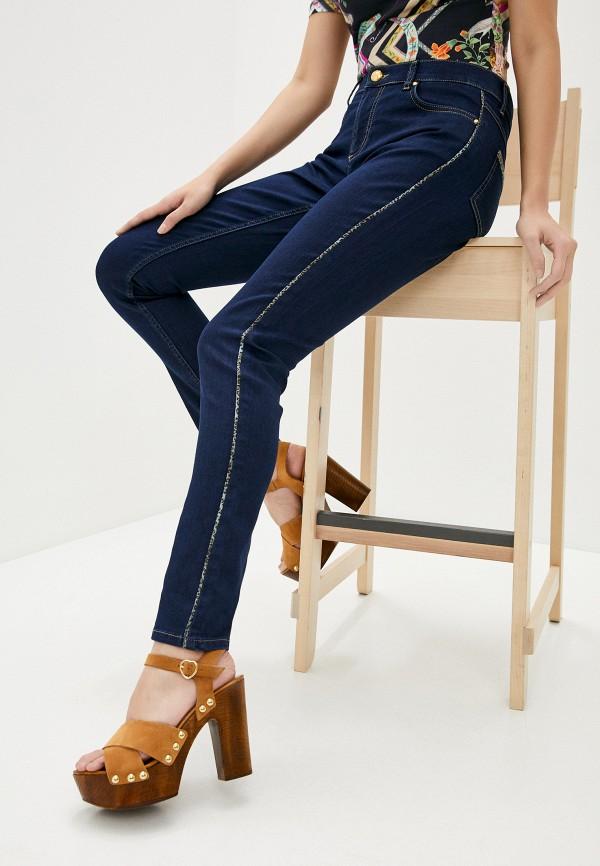 женские джинсы cavalli class, синие