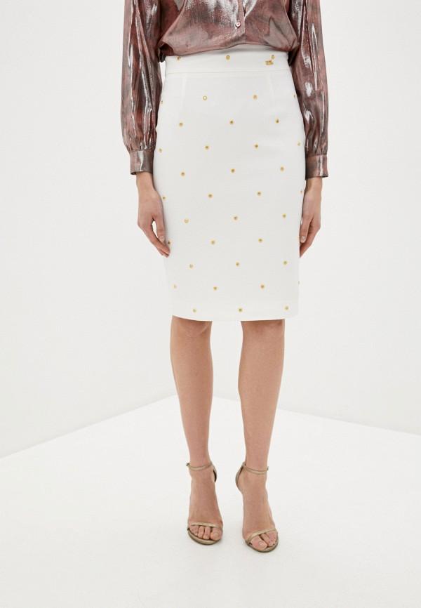 женская прямые юбка cavalli class, белая