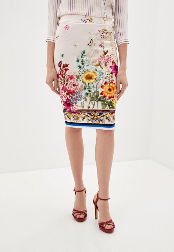 женская узкие юбка cavalli class, разноцветная