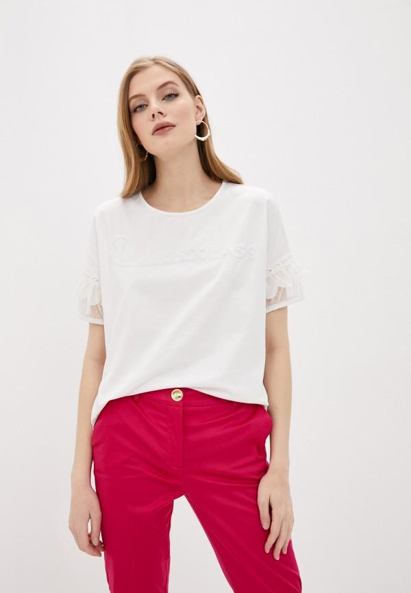 женская футболка cavalli class, белая