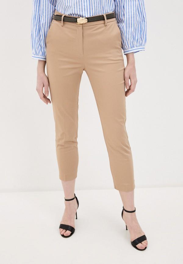 женские повседневные брюки cavalli class, бежевые