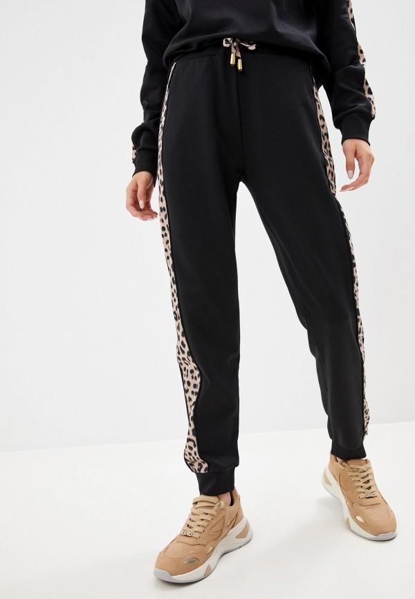 женские спортивные брюки cavalli class, черные