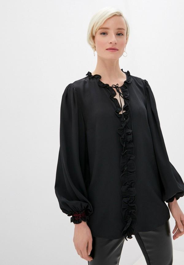 женская блузка cavalli class, черная