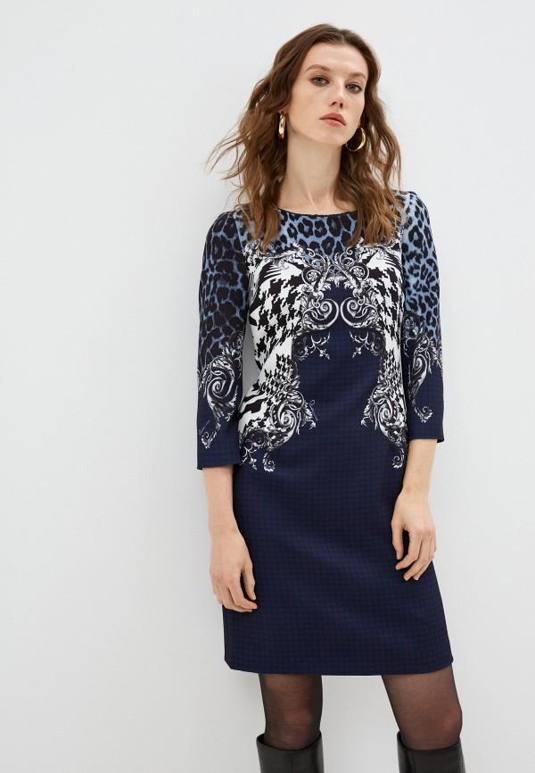 женское повседневные платье cavalli class, синее