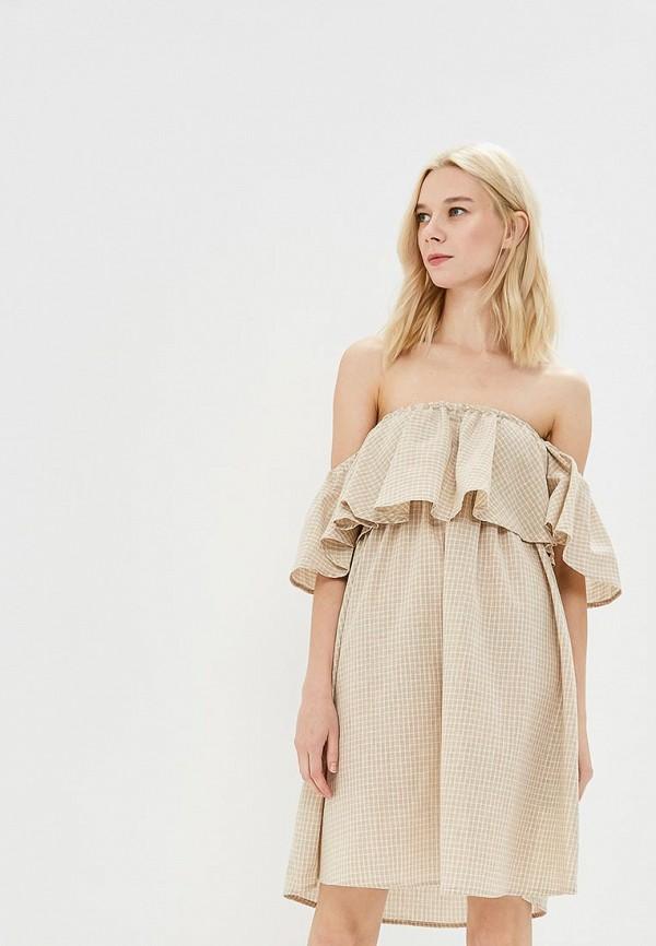 Купить Платье Care of You, CA084EWBNIX6, бежевый, Осень-зима 2018/2019