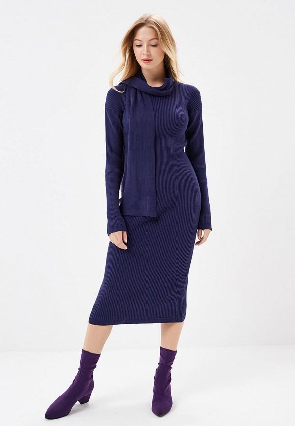 женское повседневные платье care of you, синее