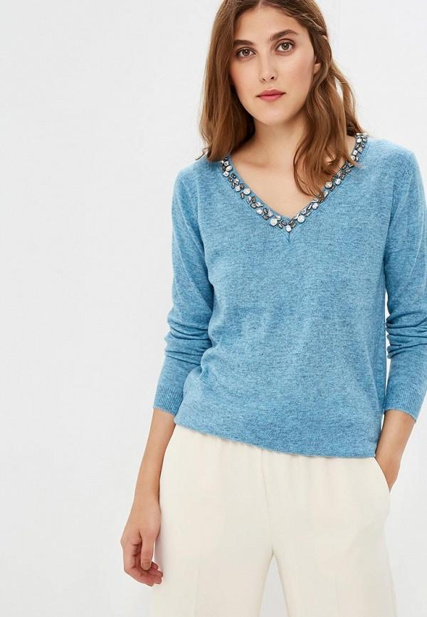 женский пуловер care of you, голубой
