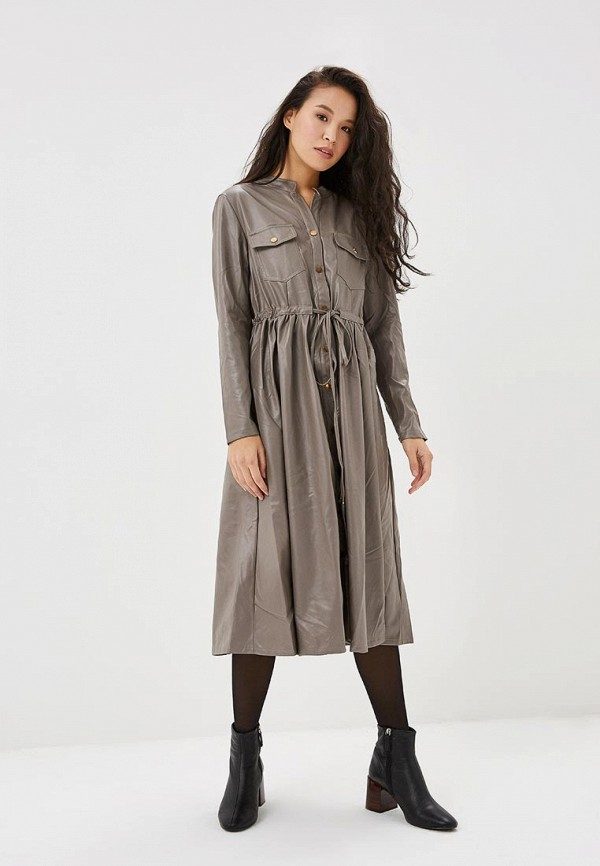 Купить Платье Care of You, ca084ewcvuc8, серый, Осень-зима 2018/2019