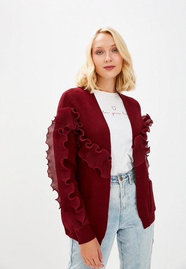 Купить Кардиган Care of You, ca084ewcvug7, бордовый, Осень-зима 2018/2019