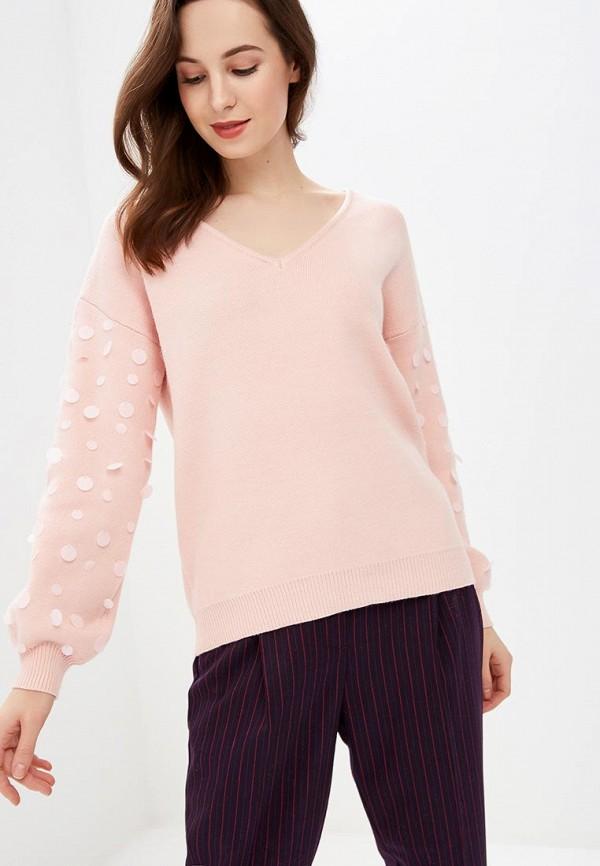 женский пуловер care of you, розовый