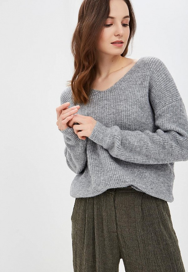 женский пуловер care of you, серый