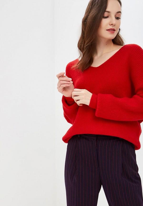 женский пуловер care of you, красный