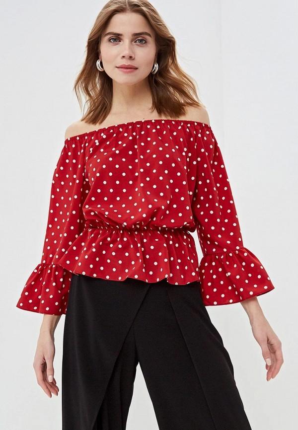 женская блузка care of you, красная
