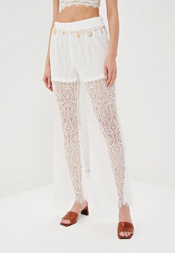 женские повседневные брюки care of you, белые