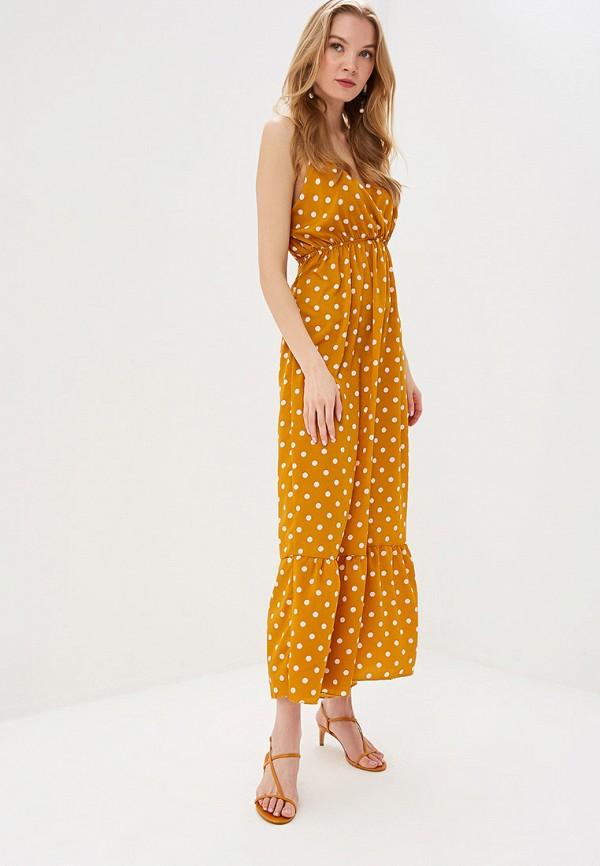 женское повседневные платье care of you, желтое