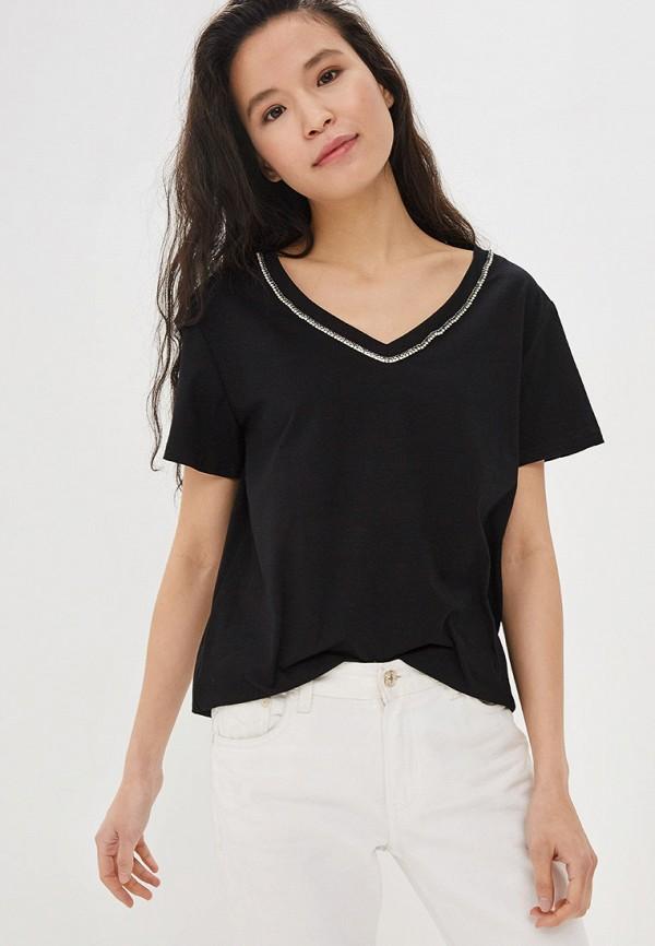 женская футболка care of you, черная
