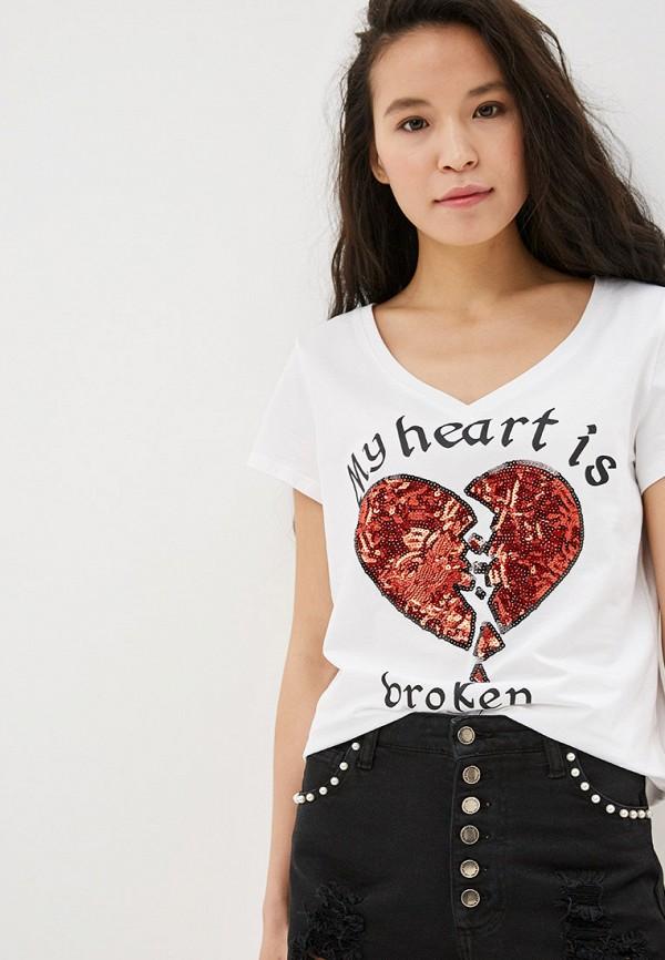 женская футболка care of you, белая
