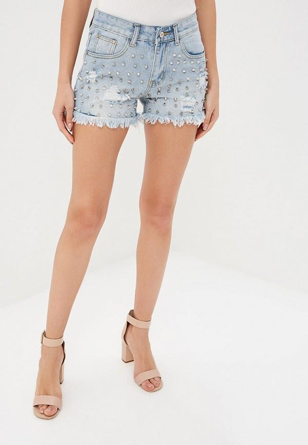 женские джинсовые шорты care of you, голубые