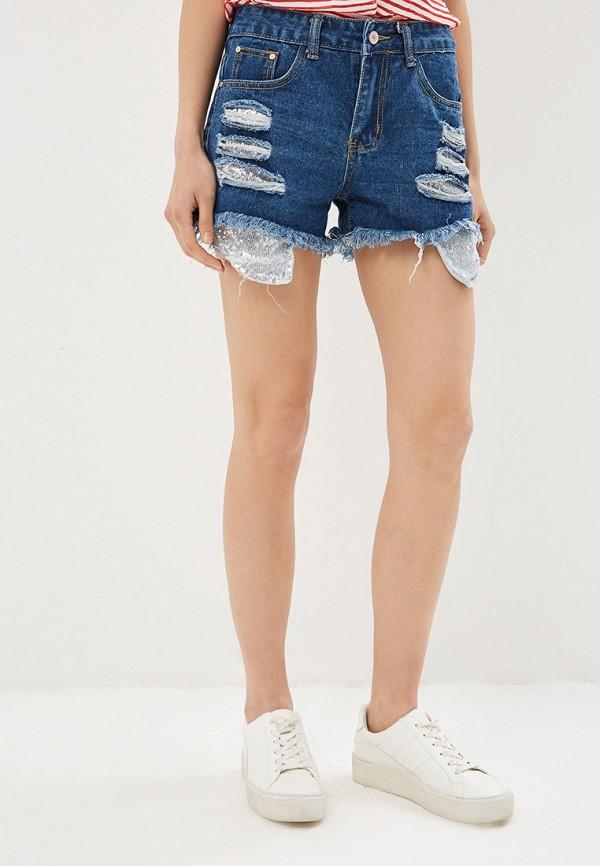 женские джинсовые шорты care of you, синие