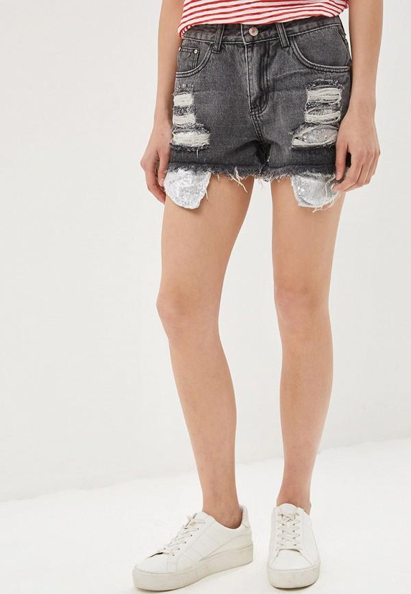 женские джинсовые шорты care of you, серые