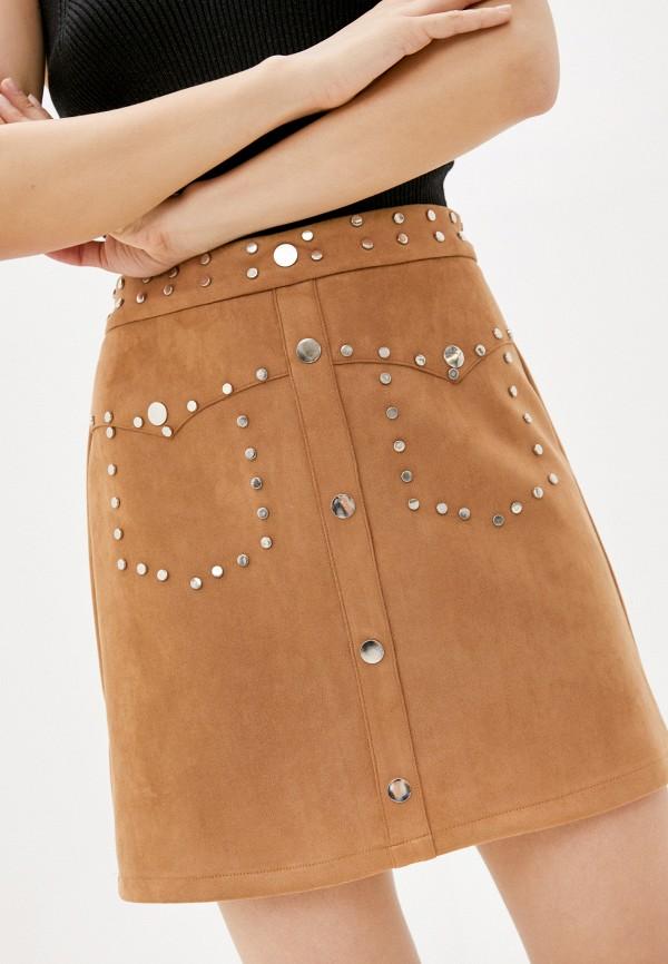 женская юбка care of you, коричневая