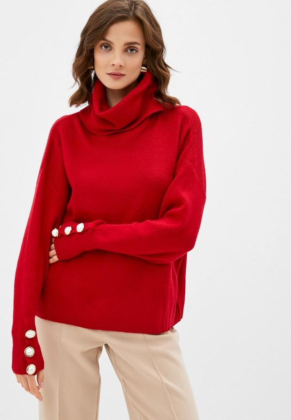 женский свитер care of you, красный
