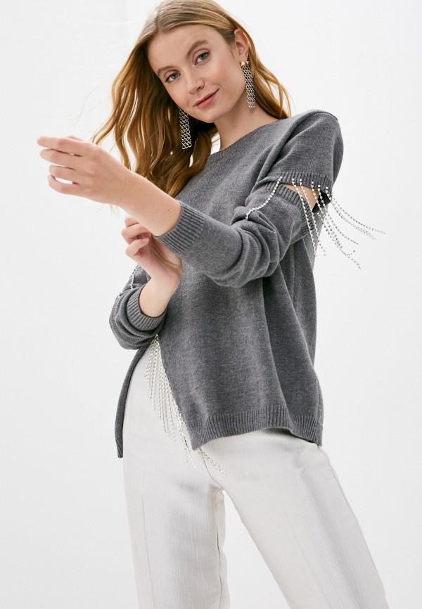 женский свитер care of you, серый