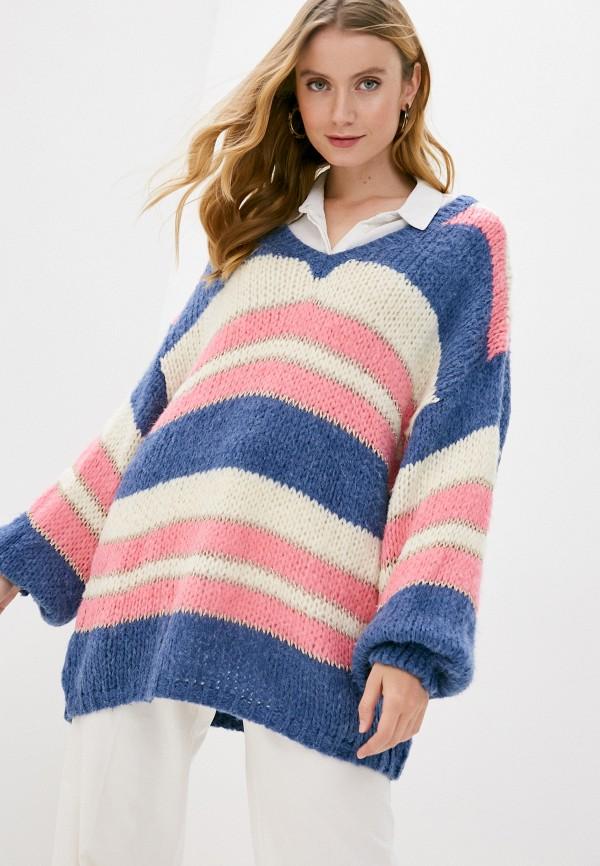 женский пуловер care of you, разноцветный